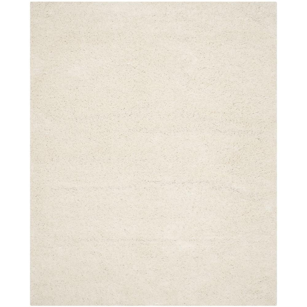 Athens Shag White 9 ft. x 12 ft. Area Rug