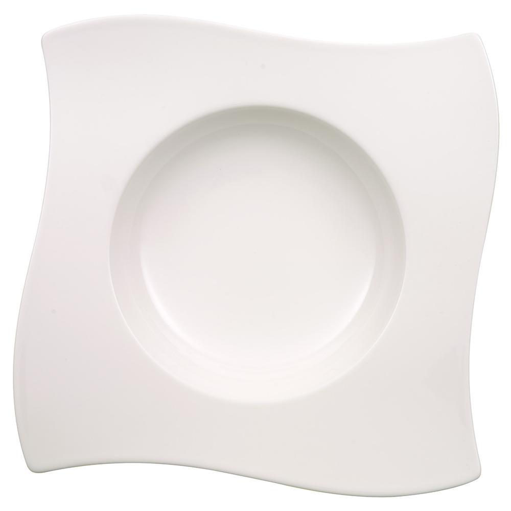 New Wave White Porcelain Rim Soup Bowl