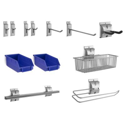 Steel Slatwall Accessory Kit (12-Piece)