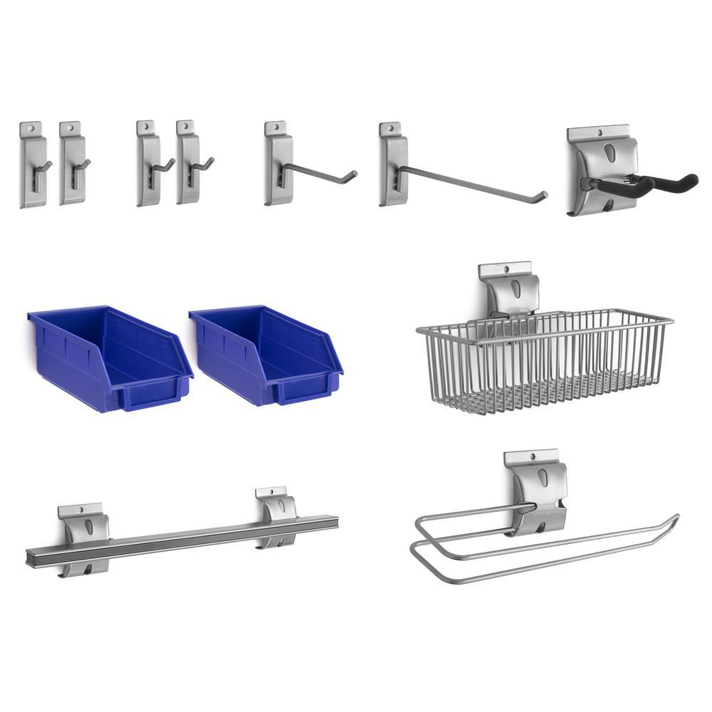 Steel Slatwall Accessory Kit (12-Piece)