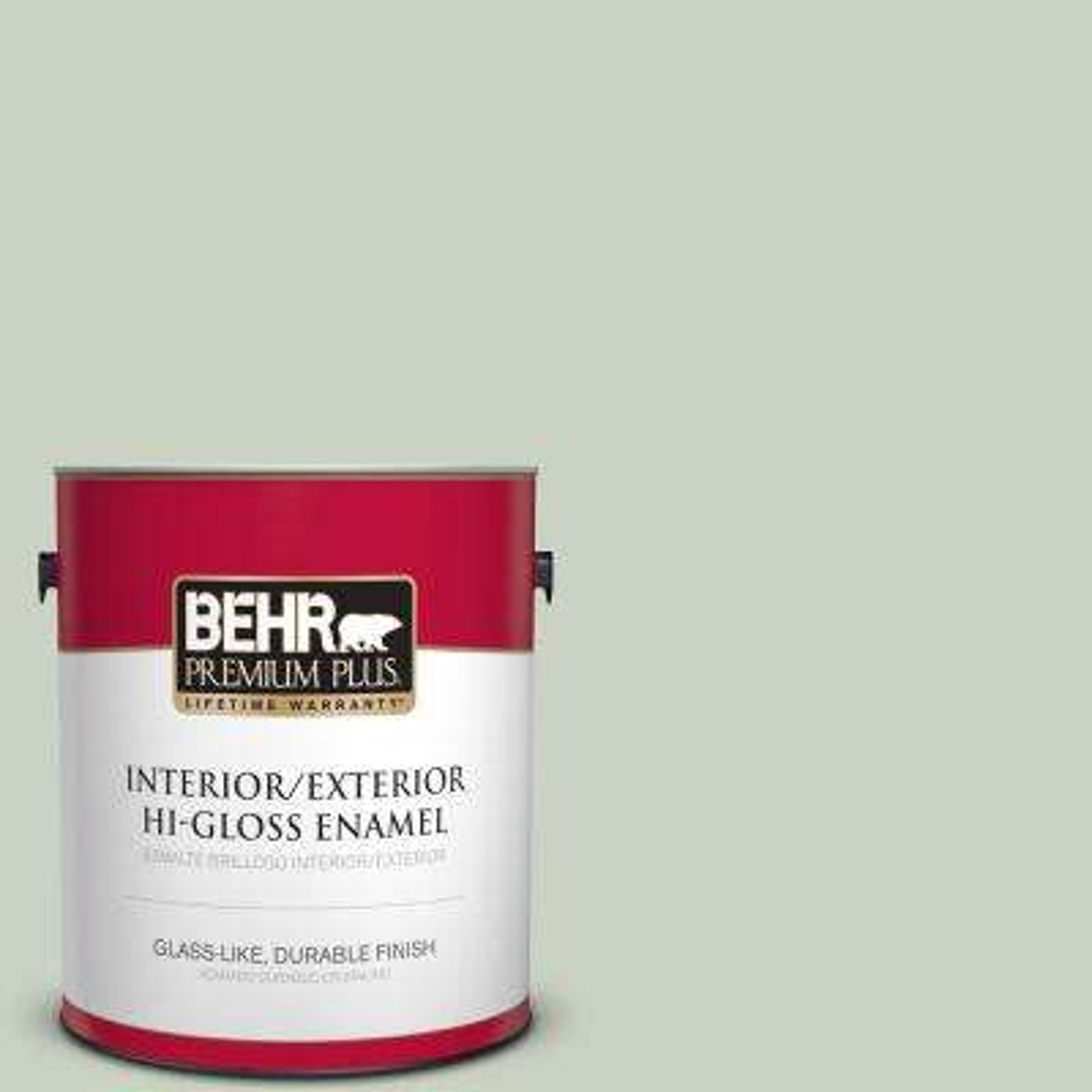 1 gal. #PPU11-12 Mild Mint Hi-Gloss Enamel Interior/Exterior Paint