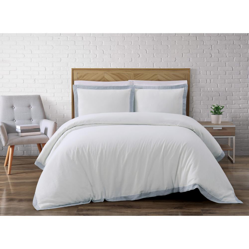 Wilson White Full/Queen Comforter Set