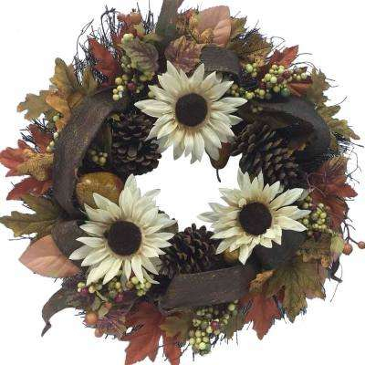 24 in. Wreath Fall in Grapevine
