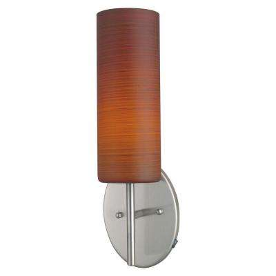 Brown Sugar 1-Light Matte Nickel Flushmount Sconce