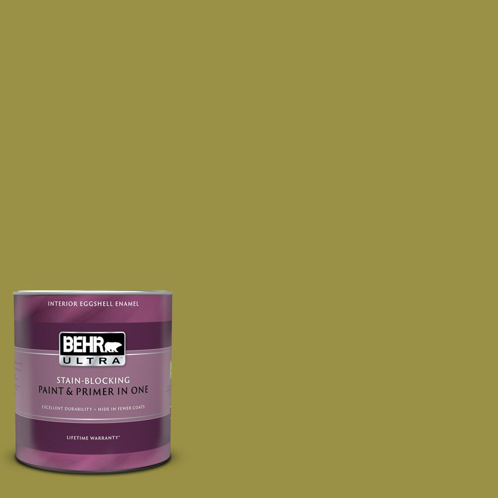 Behr Ultra 1 Qt Home Decorators Collection Hdc Fl13 8 Tangy Dill Eggshell Enamel Interior Paint Primer 275304 The Home Depot