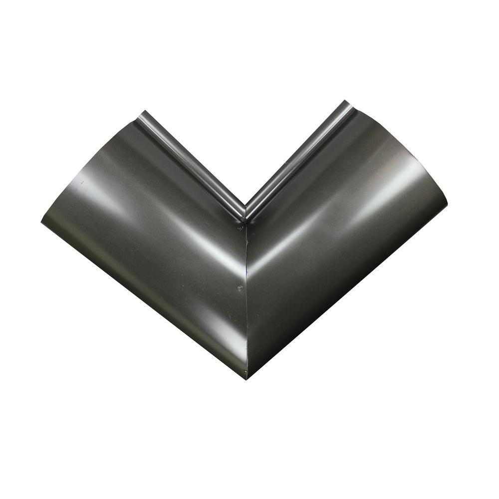 Spectra Metals 6 in. Half Round Bronze Aluminum Inside Miter