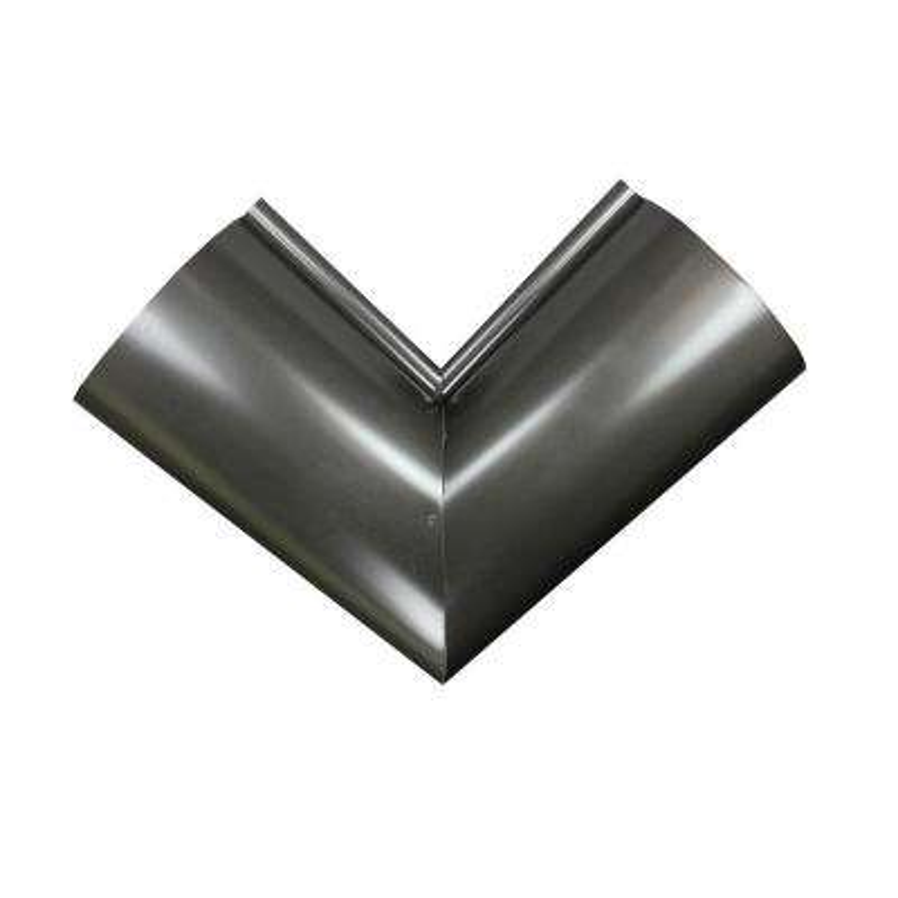 6 in. Half Round Bronze Aluminum Inside Miter