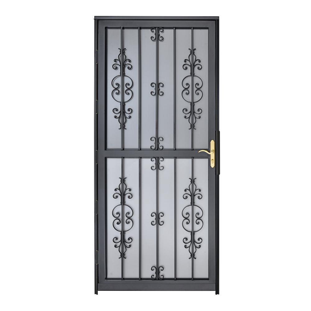 32 in. x 80 in. 307 Series Black Hilton Security Door
