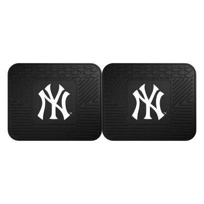 MLB New York Yankees Black Heavy Duty 2-Piece 14 in. x 17 in. Vinyl Utility Mat