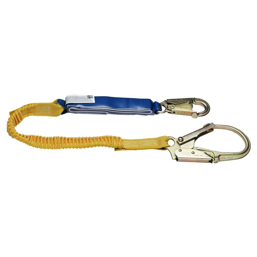 Upgear 6 ft. DeCoil Stretch Single Leg Lanyard (DCELL Shock Pack,