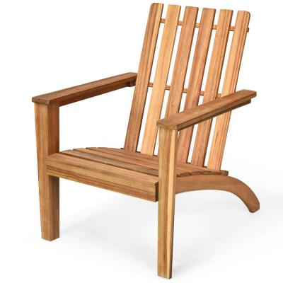 Brown Adirondack Chair Lounge Wood Outdoor Lounge Chair