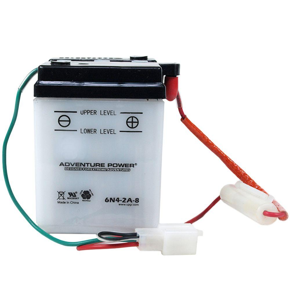 UPG Conventional Wet Pack 6-Volt 4 Ah Capacity V Terminal Battery