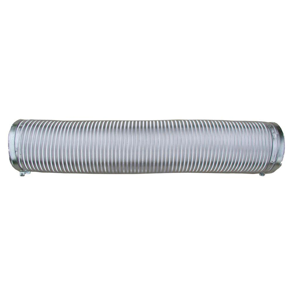 Speedi-Products 4 in. x 96 in. Heavy Duty Flexible Round Aluminum Ready Pipe with Soft Cuff Ends