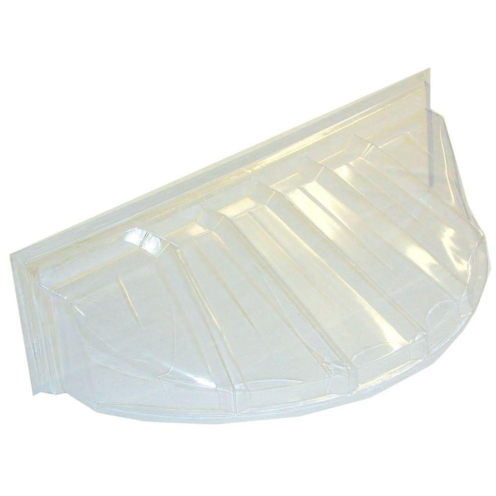 MacCourt 42 in. x 15 in. Polyethylene Reversible Bubble Window Well Cover