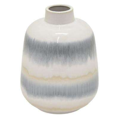 10.25 in. Multi-Colored Ceramic Vase