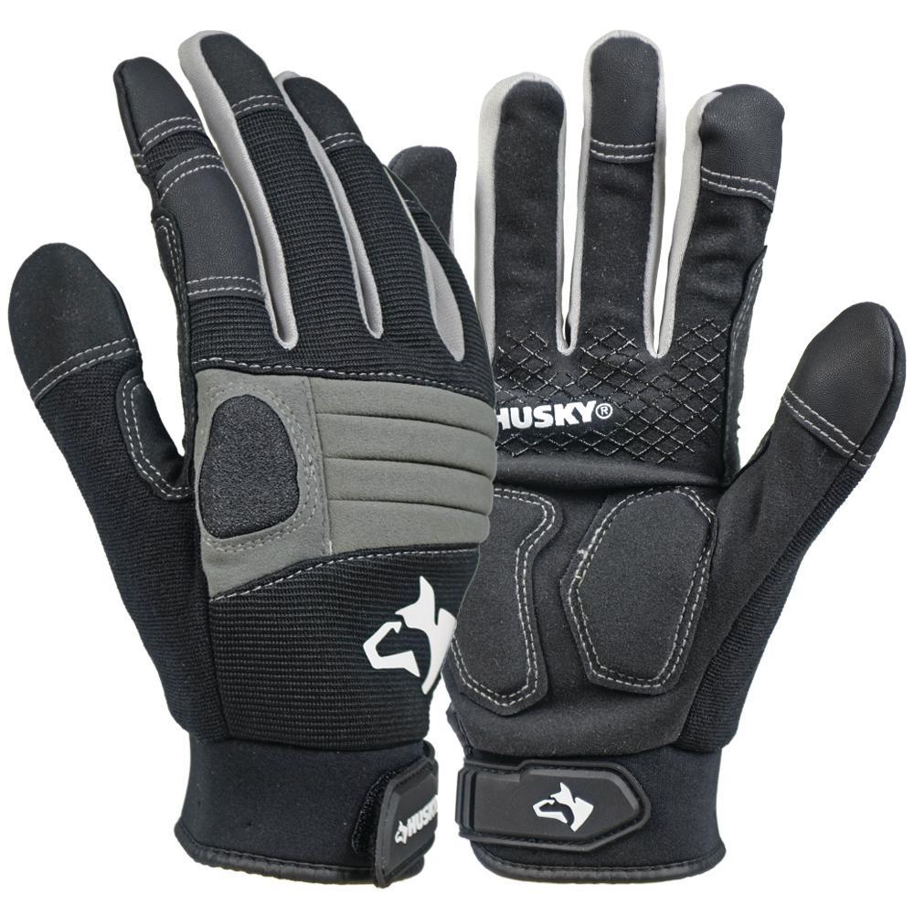 Husky Medium Duty Gloves 3 Pack 67802 64 The Home Depot