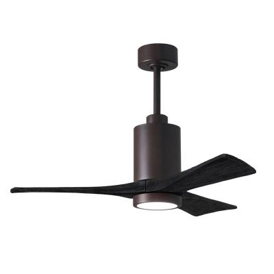 Patricia-3 42 in. Integrated LED Textured Bronze Ceiling Fan with Light Kit