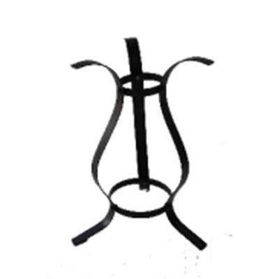 11.75 in. Black Curved Outdoor Patio Stand for Garden Gazing Balls
