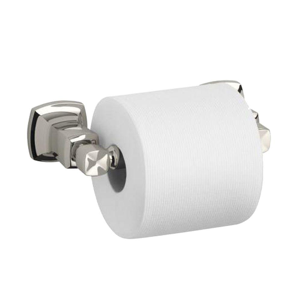Margaux Single Post Toilet Paper Holder in Vibrant Polished Nickel