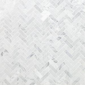 Ivy Hill Tile White Carrara Herringbone