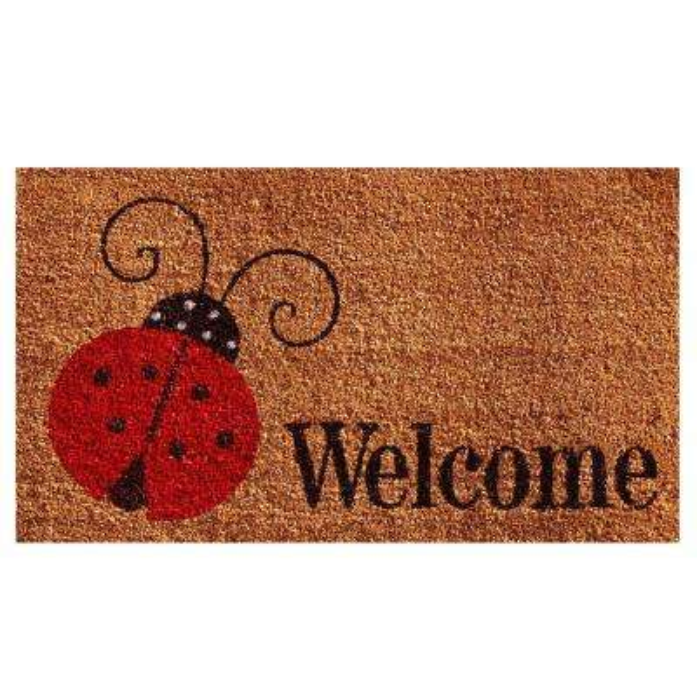 Ladybug Welcome Door Mat 17 in. x 29 in.
