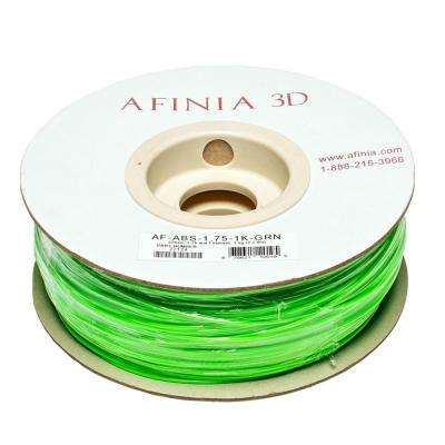 Value-Line 1.75 mm Green ABS Plastic 3D Printer Filament (1kg)