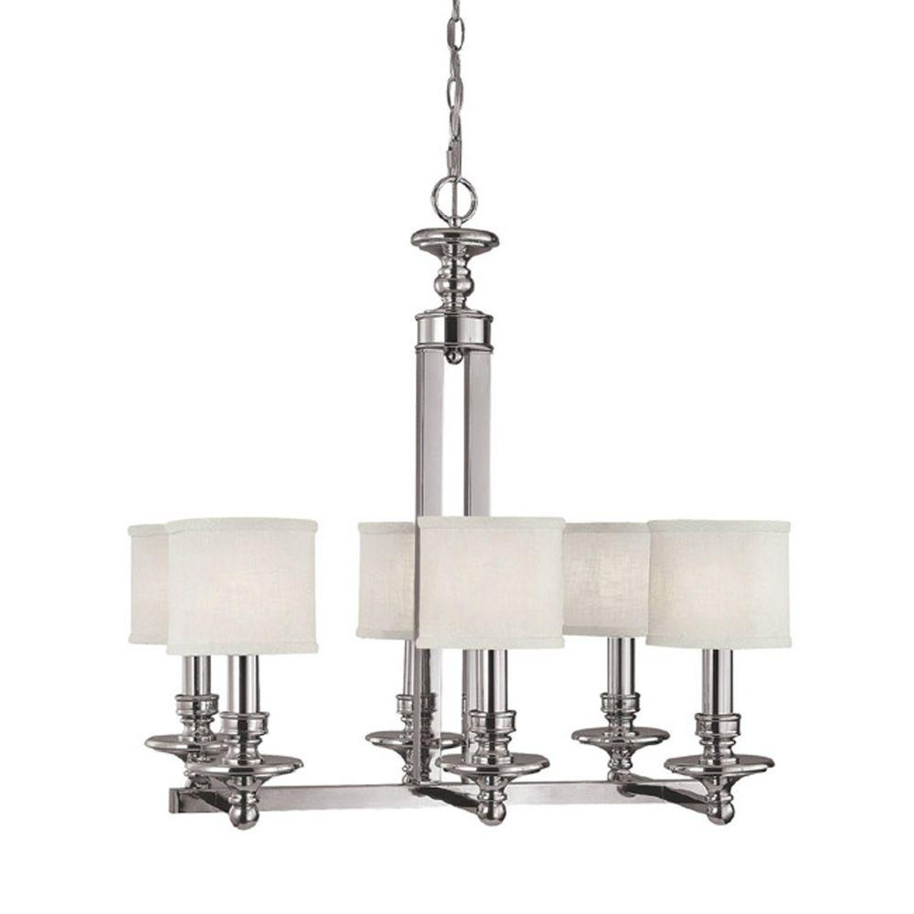 Filament Design 6-Light Polished Nickel Island Lighting Fixture-DISCONTINUED