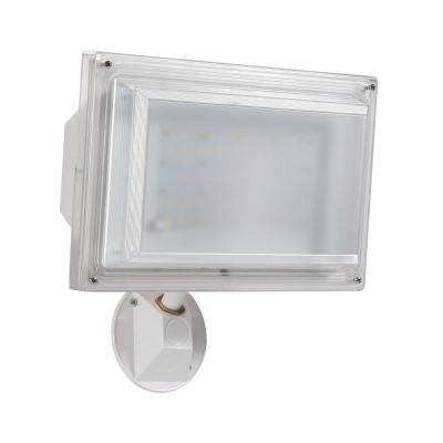 FL55 White Outdoor Integrated LED Wall Pack Light