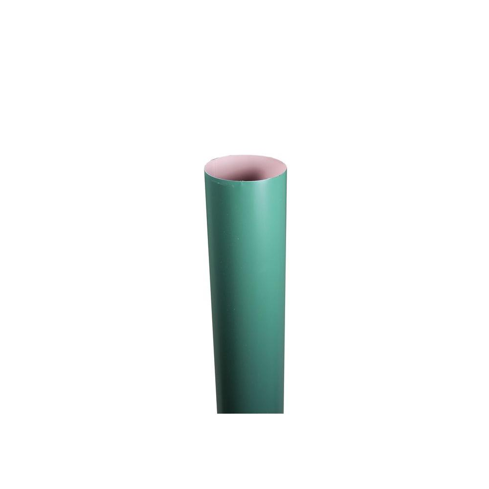 4 in. x 10 ft. Round Forest Green Downpipe