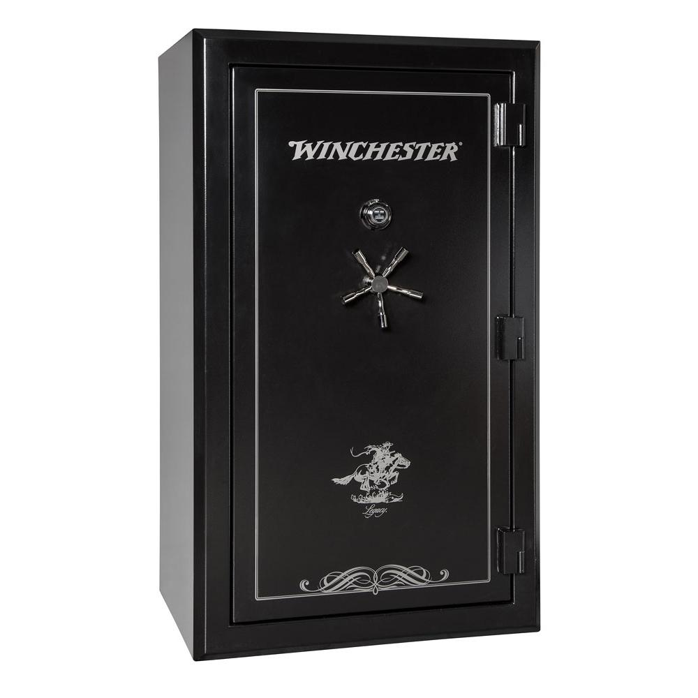 Winchester Safes Legacy Premier 53 54-Gun Black Gloss Fire-Safe Electronic Lock