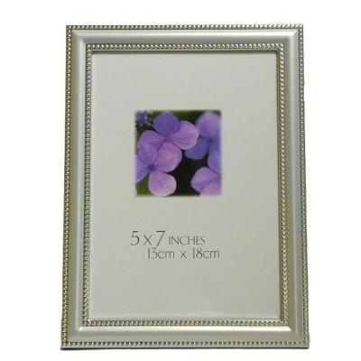Katherine 5 in. x 7 in. Silver Aluminum Beaded Pearl Picture Frame