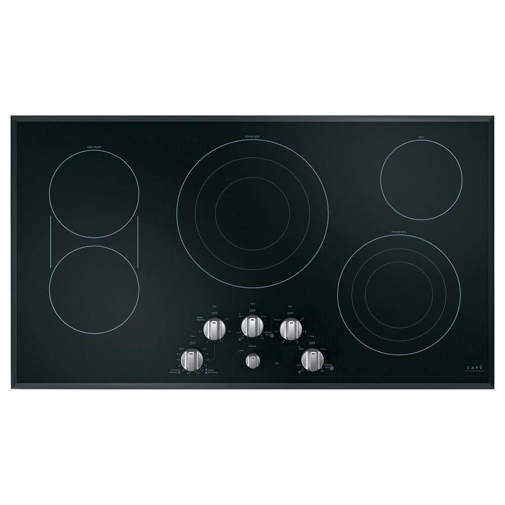 36 in. Radiant Electric Cooktop in Black and Brushed Stainless with