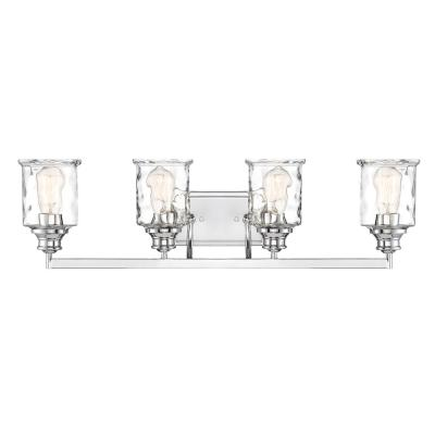 Drake 4-Light Polished Nickel Bath Bar Vanity Light