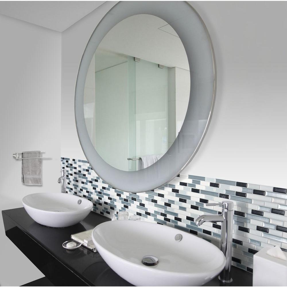 Muretto Brina 10.20 in. W x 9.10 in. H Decorative Mosaic Wall Tile Backsplash