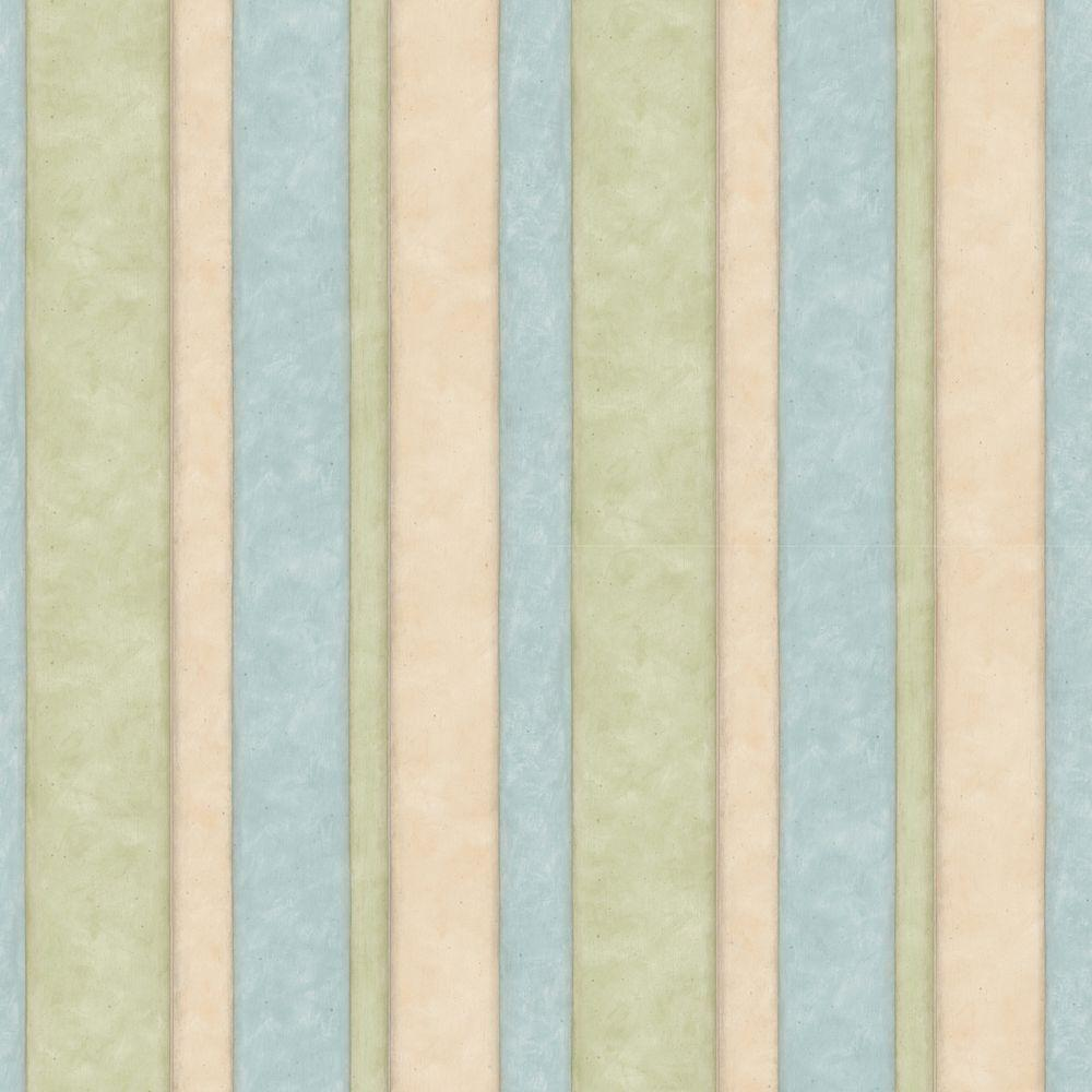 null 56 sq. ft. Pastel Muted Stripe Wallpaper-DISCONTINUED