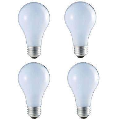 40-Watt Equivalent A19 Halogen Light Bulb (4-Pack)