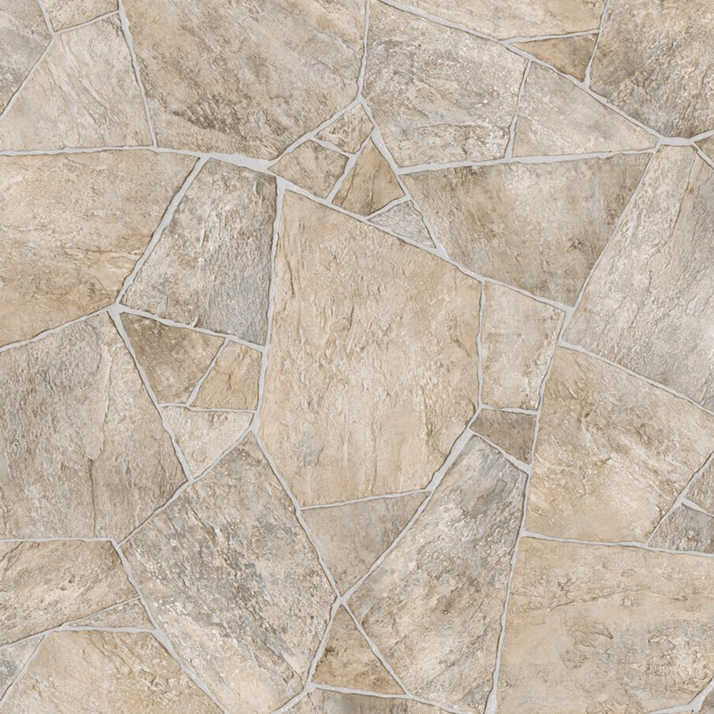 Trafficmaster broken stone beige 13 2 ft wide x your for Sheet vinyl flooring