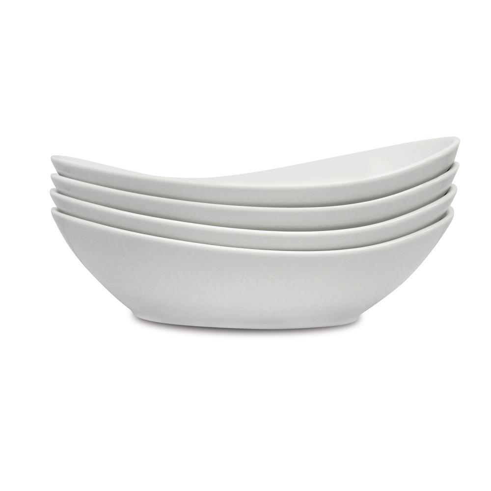 40 oz. White Sidedish Porcelain Bowls (Set of 4)