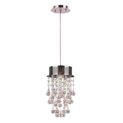 Icicle 1-Light Polished Chrome and Clear Crystal Pendant Light