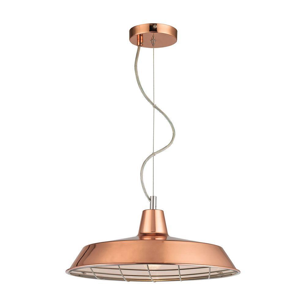 Ajax 1-Light Copper Pendant