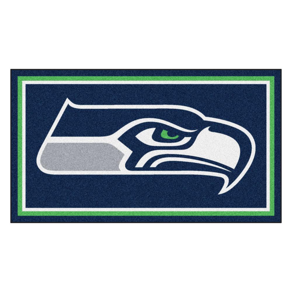 NFL - Seattle Seahawks 3 ft. x 5 ft. Ultra Plush Area Rug