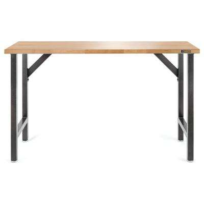 Ready to Assemble 66.5 in. W x 39 in. H x 20 in. D Hardwood Top Workbench