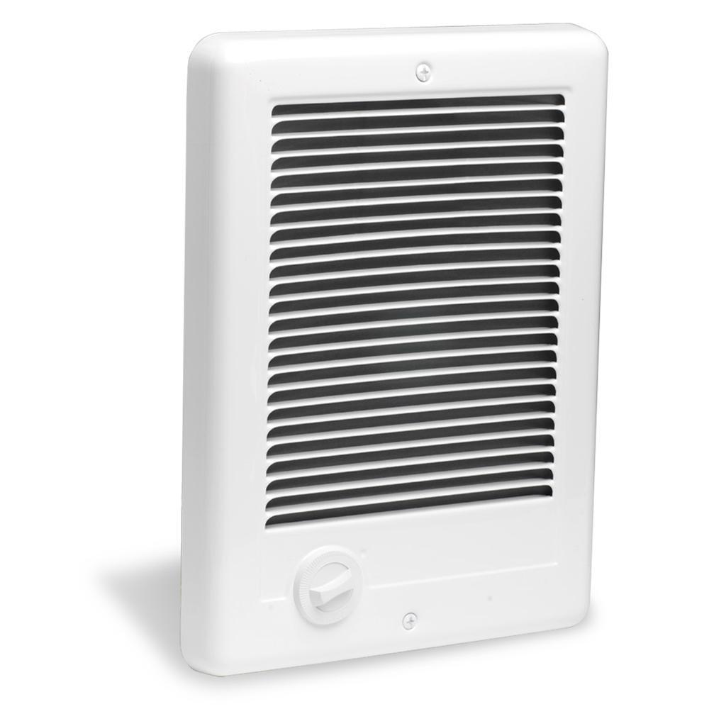 Com-Pak Plus 9 in. x 12 in. 1500-Watt 120-Volt Fan-Forced In-Wall Electric Heater in White