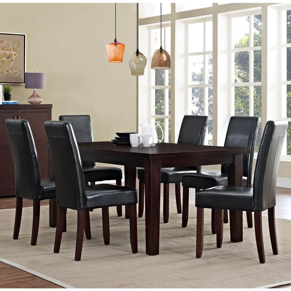 Acadian 7-Piece Midnight Black Dining Set