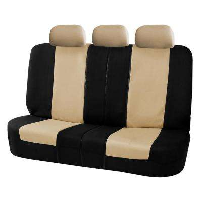 Flat Cloth 52 in. x 58 in. x 1 in. Split Bench Rear Seat Cover