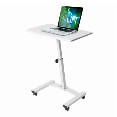 24 in. Rectangular White Laptop Desks with Adjustable Height