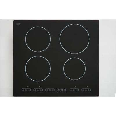 30 in. Schott Ceran Glass-Ceramic Induction Cooktop in Black with 4 Elements including 3,700-Watt Power Element