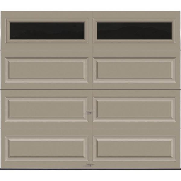 Classic Collection 8 ft. x 7 ft. 12.9 R-Value Intellicore Insulated Sandstone Garage Door with Windows Exceptional