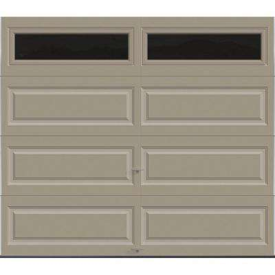 Classic Collection 8 ft. x 7 ft. 18.4 R-Value Intellicore Insulated Sandtone Garage Door with Plain Windows