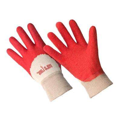 Ladies Premium Medium/Large Tangerine Latex Coated Gloves